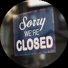 Rustic closed sign